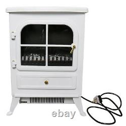 1850w Electric Fireplace Heater Fire Living Room Log Burning Flame Effect Stove (en 1850w)