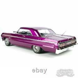 1/10 Chevrolet Impala Ss 1964 Rc Car Hopping Lowrider Kandy & Chrome Purple