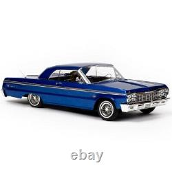 1/10 Chevrolet Impala Ss 1964 Rc Voiture Sautant Lowrider Blue Classic Edition Rtr