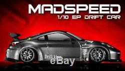 1/10 Exceed Rc Télécommande Mad Speed drift Roi Électrique 2.4g Car Aj Carbon