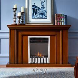 2000w Foyer Électrique Insert Led Heater Stove Réglable Flame Remote Control