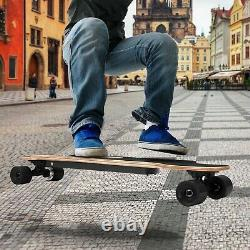20km/h Planche À Roulettes Électrique Sans Fil Télécommande Moteur Skate Board Funboard B