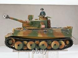2.4ghz 1/16 Tiger I Rc Tank Middle Versio Metal Edition Avec Barrel Recoil R/c