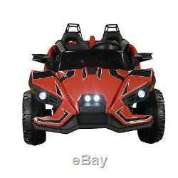 2 Camions Électriques Slingshot 12v Kids Ride On Car Avec Télécommande Rouge