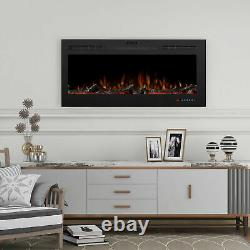 30''/50'' In-wall Encastré Mount Electric Fireplace Insert Led Flame Fire Heater