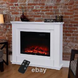 30 Cheminée Électrique Led Flamme Inset Fire Surround Suite Poêle Télécommande
