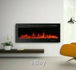 36 Pouces Led Numérique Flammes Noir Insert / Mural Électrique Feu 2020 À Distance