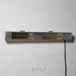 3kw Wall Mounted Electric Patio Heater Remote Control Stainless Steel Firefly (en Acier Inoxydable)