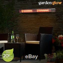 3ww De Jardin Glow 3ww Chauffe-terrasse Mural Électrique Feu D'extérieur Et À Distance