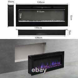 40/50/60 Montage Encastré Encastré De Cheminée Électrique Insert De Flamme Led Chauffe-feu