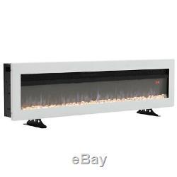 40 Pouces Led Flames Mince Encart Dans Le Feu Murales / Exempté Feu Électrique