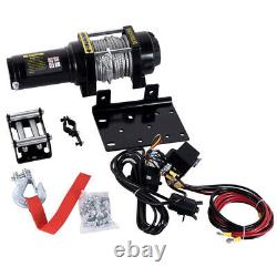 4500lbs Highy Duty Electric Recovery Treuil 12v Remote Control Rope Trailer Camion