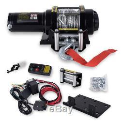 4500lbs Treuil Électrique De Récupération Heavy Duty 12v Télécommande Corde Camion Remorque