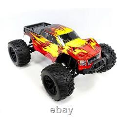 4wd Rc Monster Camion Véhicule Hors Route 1/10 À L'échelle Télécommande Incendie De Voiture Crawler