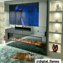 50 60 Inch Led Numéros New Thin Border 2.5cm Inset Electric Fire 2021