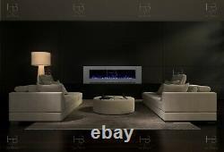 50 Ou 60 Pouces Blanc Noir Gris Mur Monté Flush Électrique Feu Caractéristique Stupéfiant