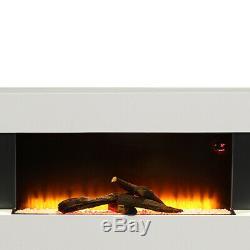 50 Pouces De Large Led Flamme Mural Electric Fire Verre Plat Foyer Withreomte