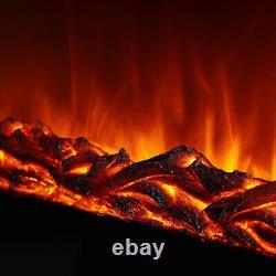 50 Pouces Électrique Cheminée Mur Hung Led Effet De Flamme Chauffage Avec Télécommande
