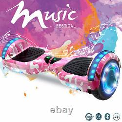 6.5 Inch Hoverboard Electric Scooter Self Balancing Board Bluetooth Led Light