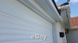 7ft X7ft Rouleau De Porte De Garage Télécommande En Blanc Avec Fixations Incluses