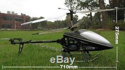 9101 Double Cheval 3.5ch Énorme Hélicoptère De Contrôle À Distance Construit En Gyro
