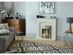 Adam Truro Fireplace Suite Cream Helios Electric Fire Brushed Steel 21566 41 In