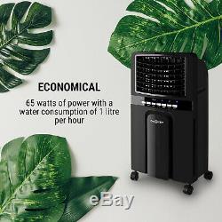 Air Cooler Portable Chambre Climatisation 4in1 Ventilateur 6l 65w Ioniseur Humidifier Noir