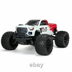 Arrma Granite 1/10 4x4 Échelle Mega Rc Télécommande Monster Truck Rtr Rouge / Blanc