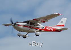 Art Tech Cessna 182 500 Classe Rc Plan De Contrôle Radio À Distance Rouge (pnp) Nouveau Avec Boîte