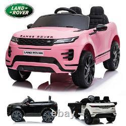 Autorisé 12v Ride Sur Range Rover Evoque Enfants Électrique 2.4g Télécommande Voiture