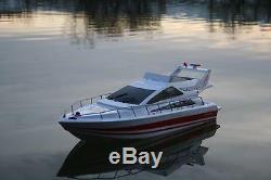 Bateau De Vitesse Rc Atlantic Jacht X2 Bateau De Course Télécommande Émetteur Navire Rtr