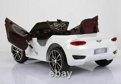 Bentley Exp 12 Kids Electric Ride Officiel Sur La Télécommande De La Batterie 12v De La Voiture