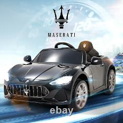 Black 12v Maserati Licensed Electric Kids Ride On Car Toy With Remote Control