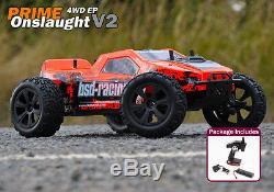 Bsd Racing Premier Onslaught V2 Rc Truck 1/10 4rm Radio Distance De Voiture De Contrôle