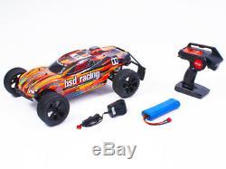 Bsd Racing V3 Rc Premier Tempête Truggy 1/10 Échelle Radio Télécommande De Voiture Orange