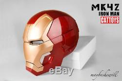 Cattoys Iron Man Mk42 Casque 11 Masque Led Eoli Cool Replica Model De Luxe Cosplay