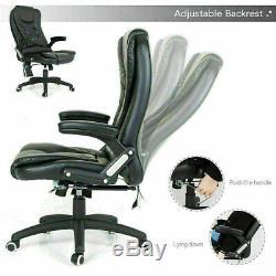 Chaise De Bureau Exécutif Massage Électrique Pu Fauteuil Inclinable En Cuir Avec Télécommande