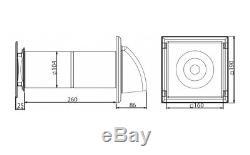 Chambre Simple De Récupération De Chaleur Kit Avec Télécommande Hotte Aspirante Cowl Hrv100p