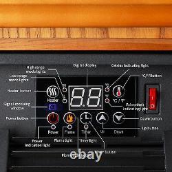 Chauffage Infrarouge Insert Électrique Pour Foyer 1500w Surchauffe Flamme Télécommande