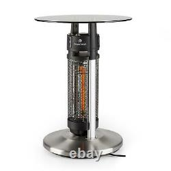 Chauffage Infrarouge Patio Espace Table Carbone Led Verre Capteur Ir Lumière Extérieure 1200w