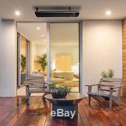 Chauffage Par Radiateur Infrarouge Radiateur Électrique Thermostat 2200 W Minuterie Montage Mural Salon