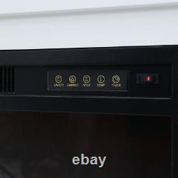 Chauffe-feu Électrique Avec Télécommande Mantel En Bois Blanc 2kw