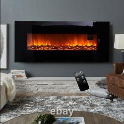 Chauffe-flammes Électriques En Verre Plat De 50 Pouces Avec Télécommande