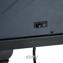 Chauffe-foyer Électrique Autoportant Homcom Avec Télécommande À Effet De Flamme Led