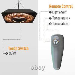 Chauffe-plafond Électrique Patio 2000w Halogène Avec Télécommande Aluminium