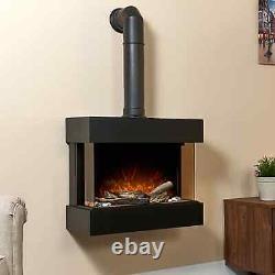 Cheminée Électrique 3d Flame Led Light Wall Mounted Tranquill Heater Télécommande