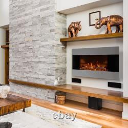 Cheminée Électrique Fire Flame Effect Room Chauffage Intérieur 2000 W Led Light Wall