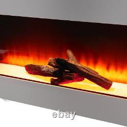 Cheminée Électrique Murale Monté Sur Le Feu Led Log Flames Avec Down Light 50inch
