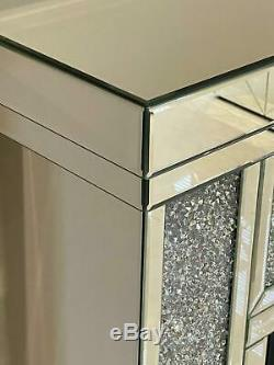 Cheminée Mirrored Crushed Diamant Changement De Couleur Led Mirrored Furniture