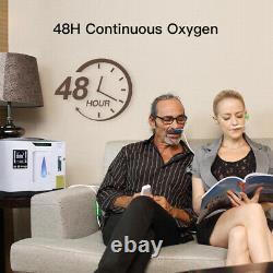Concentrateur Portable De Machine À Oxygène Pour Le Purificateur À La Maison 93% 1-7l/min 110v Us Plug